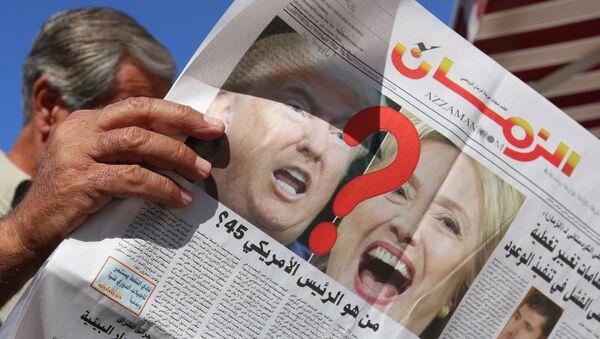 Donald Tramp i Hilari Klinton na naslovnim stranicama novina - Sputnik Srbija