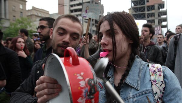 Protest u Beogradu - Sputnik Srbija