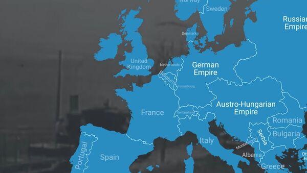 Фасцинантан видео: Како је И светски рат мењао границе Европе - Sputnik Србија