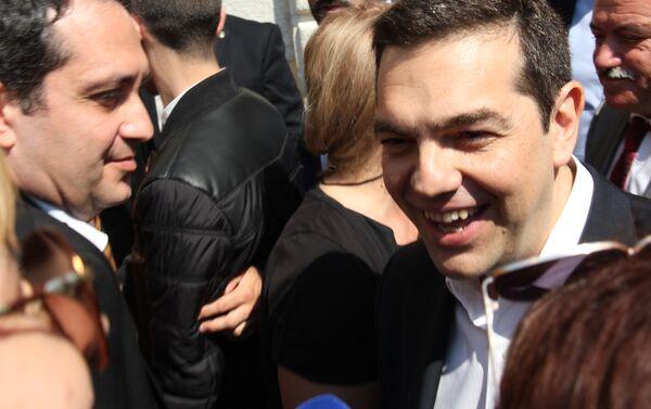 Премијер Грчке Алексис Ципрас у разговору са новинарком Спутњика - Sputnik Србија