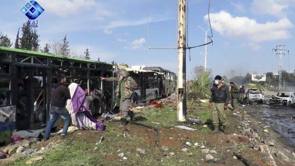 Теростички напад на колону избеглица у Алепу - Sputnik Србија
