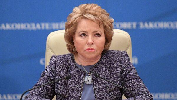 Председница Савета Федерације Русије Валентина Матвијенко - Sputnik Србија