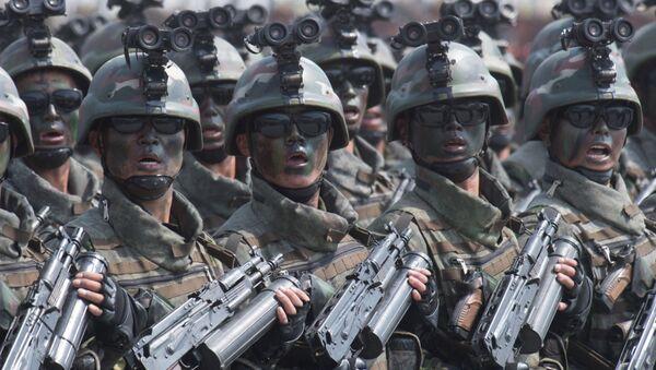 Специјалне тактичке снаге Северне Кореје на војној паради - Sputnik Србија