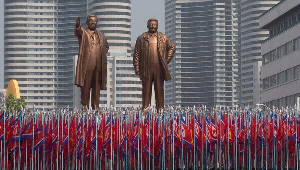 Церемонија прославе 105. годишњице од риђењења Ким Ил Сун - Sputnik Србија