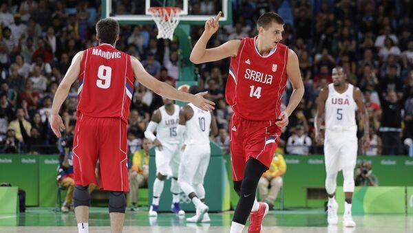 Nikola Jokić u dresu reprezentacije - Sputnik Srbija