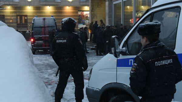 Припадници полиције на месту експлозије у Санкт Петербургу - Sputnik Србија