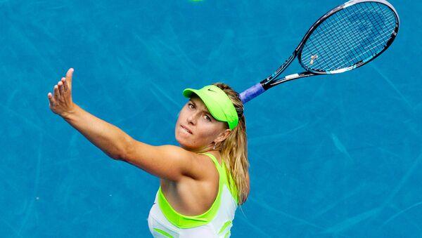 Российская теннисистка Мария Шарапова в матче третьего круга Открытого чемпионата Австралии против теннисистки из Германии Анжелик Кербер - Sputnik Србија
