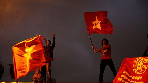 Демонстрације у Сао Паолу против реформе коју је предложио бразилски председник Мишел Темер - Sputnik Србија