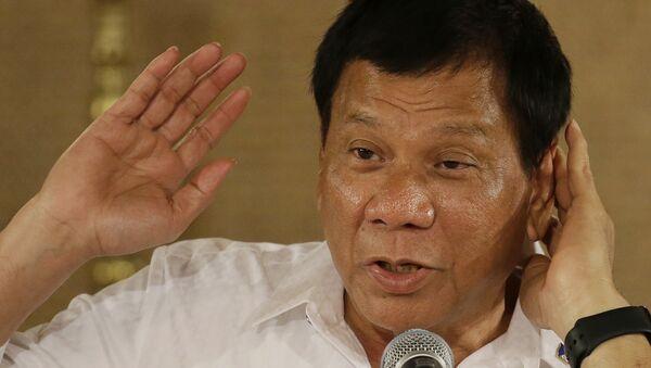Predsednik Filipina Rodrigo Duterte na konferenciji za medije u Manili - Sputnik Srbija