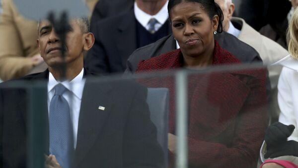 Бивша прва дама САД Мишел Обама на инаугурацији Доналда Трампа - Sputnik Србија