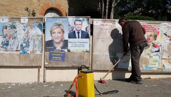 Marin Le Pen i Emanuel Makron - Sputnik Srbija