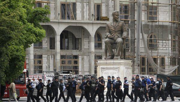 Makedonska policija u blizini parlamenta - Sputnik Srbija