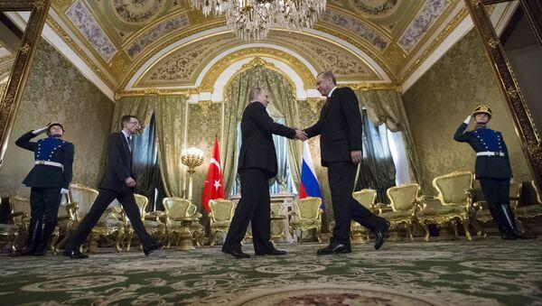 Sastanak predsednika Rusije Vladimira Putina i predsednika Turske Redžepa Tajipa Erdogana u Sočiju - Sputnik Srbija