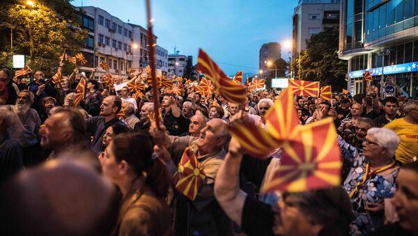 Протести у Скопљу, Македонија - Sputnik Србија