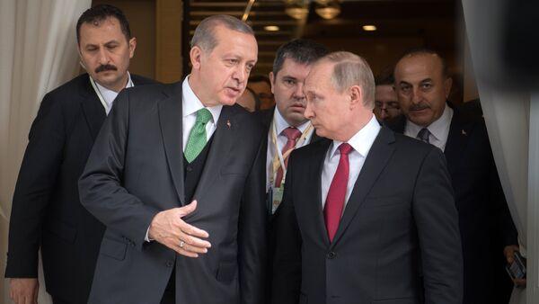 Састанак председника Русије и Турске Владимира Путина и Реџепа Тајипа Ердогана у Сочију - Sputnik Србија