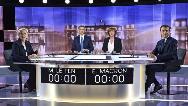 Дебата председничких кандидата Марин ле Пен и Емануела Макрона - Sputnik Србија