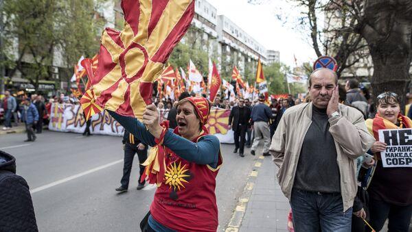Protesti u Skoplju, Makedonija - Sputnik Srbija