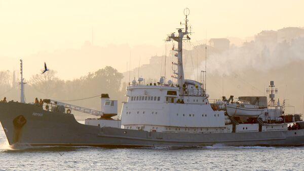 Руски војни брод Лиман плови у Босфору - Sputnik Србија