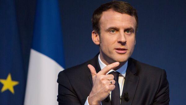 Kandidat za predsednika Francuske Emanuel Makron - Sputnik Srbija
