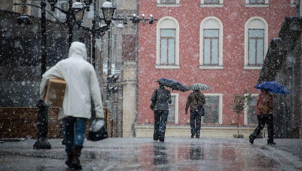 Снег у центру Москве - Sputnik Србија