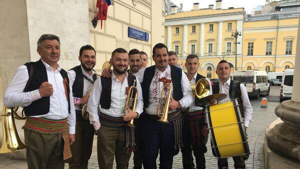 Trubački orkestar Dejana Lazarevića u Moskvi - Sputnik Srbija