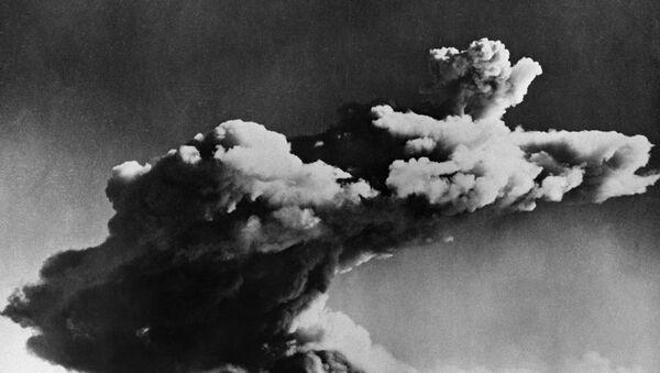 Testiranje prve britanske nuklearne bombe na arhipelagu Montebelo u Australiji, 3. oktobra 1952. - Sputnik Srbija