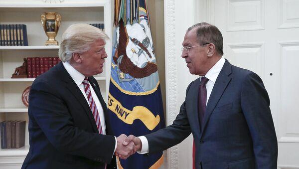 Donald Tramp i Sergej Lavrov - Sputnik Srbija