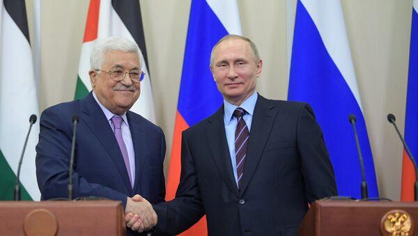 Predsednik Palestine Mahmud Abas  i predsednik RF Vladimir Putin - Sputnik Srbija
