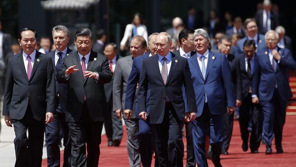 Kineski predsednik Si Đinping i predsednik Rusije Vladimir Putin na Forumu Jedan pojas - jedan put u Pekingu - Sputnik Srbija