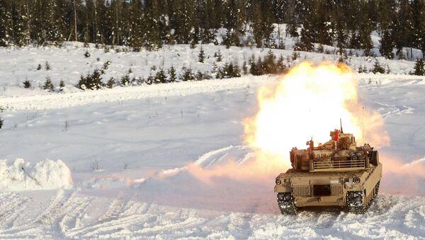 Američki tenk M1A1 Abrams u Norveškoj - Sputnik Srbija