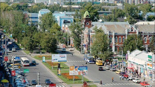 Pogled na centar Barnaula, Rusija - Sputnik Srbija