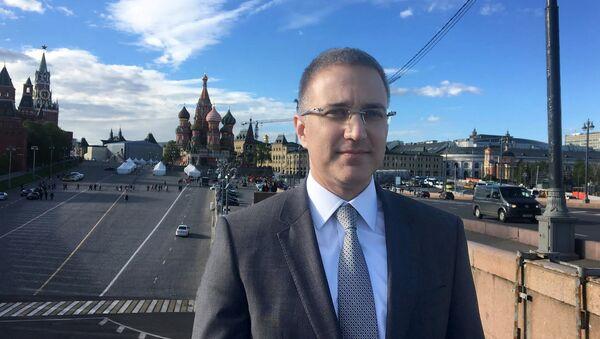 Министар унутршњих послова Србије Небојша Стефановић у Москви - Sputnik Србија
