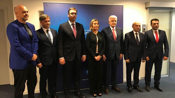 Vučić u Briselu - Sputnik Srbija