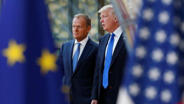 Donald Tramp i Donald Tusk - Sputnik Srbija