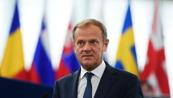 Председник Европског савета Доналд Туск у Европском парламенту у Стразбуру - Sputnik Србија
