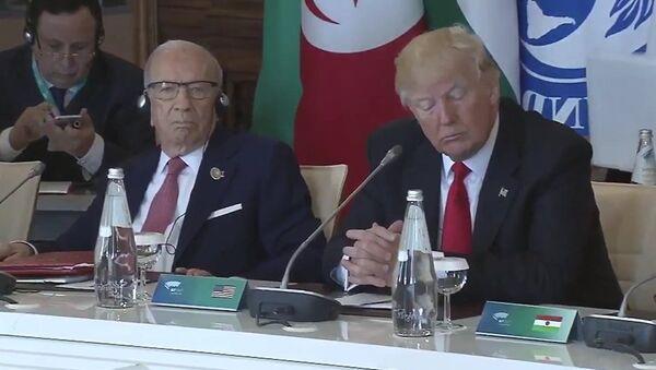 Donald Tramp na sastanku G7 u italijanskom gradu Taormini - Sputnik Srbija
