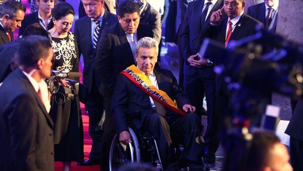 Predsednik Ekvadora Lenjin Moreno na inauguraciji u Kitou - Sputnik Srbija