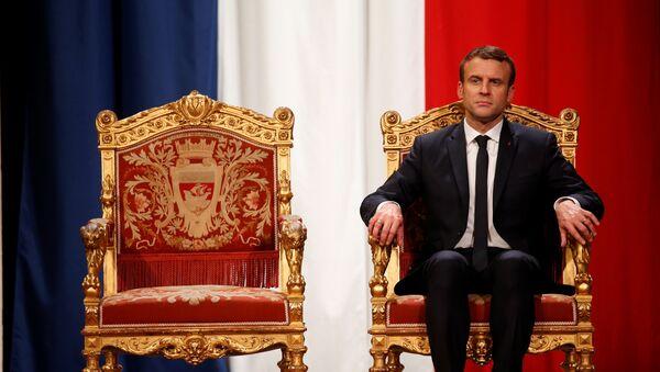 Predsednik Francuske Emanuel Makron tokom ceremonije inauguracije u Parizu - Sputnik Srbija