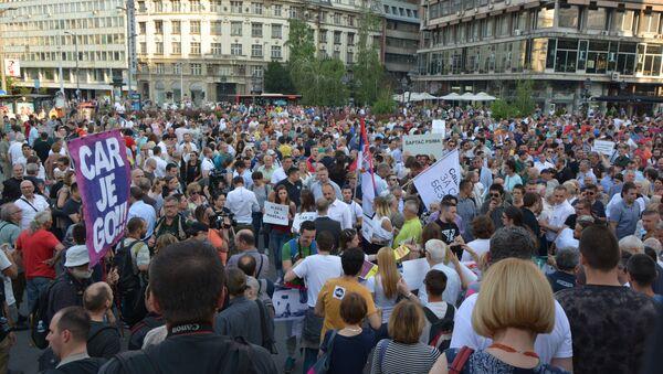 Protest opozicije u Beogradu - Sputnik Srbija