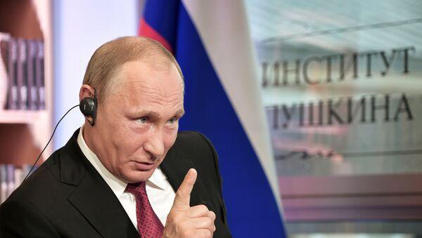 Predsednik Rusije Vladimir Putin tokom intervjua za list Figaro - Sputnik Srbija