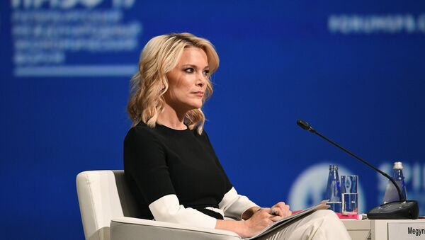 Televizijska voditeljka En-Bi-Si Njuza Megan Keli na plenarnom zasedanju Međunarodnog ekonomskog foruma u Sankt Peterburgu - Sputnik Srbija
