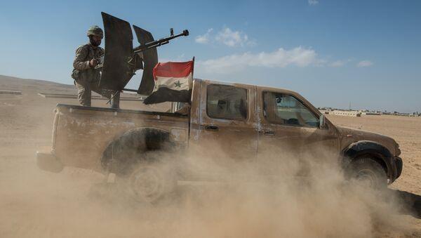 Камионет јединица Сиријске арапске армије - Sputnik Србија