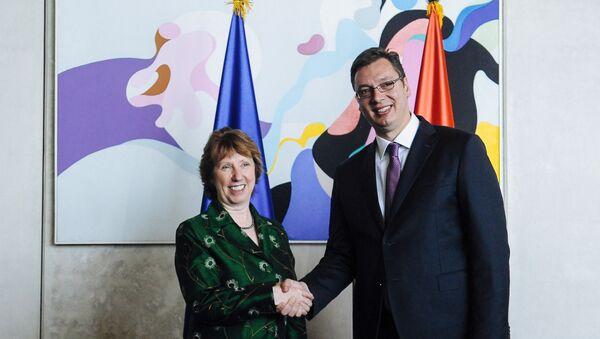 Ketrin Ešton i Aleksandar Vučić - Sputnik Srbija