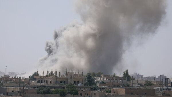 Bombardovanje provincije Raka u Siriji - Sputnik Srbija