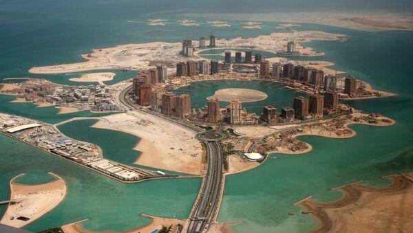 Вештачко острво Катарски бисер у Дохи, главном граду Катара. - Sputnik Србија