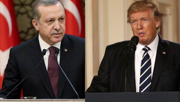Turski predsednik Redžep Tajip Erdogan i američki Donald Tramp - Sputnik Srbija
