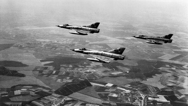 Izraelski avioni Miraž 3 tokom Izraelsko-Arapskog šestodnevnog rata 1967.godine - Sputnik Srbija