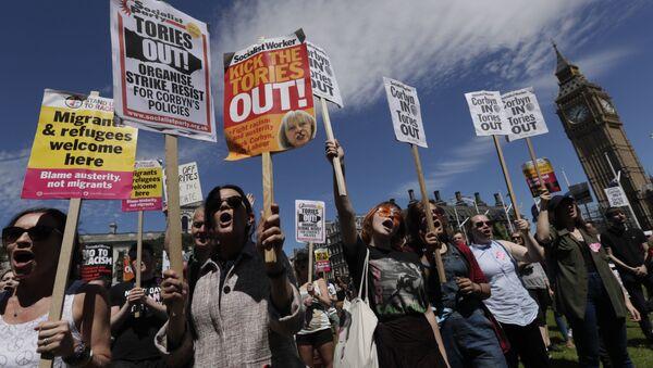 Protesti u Londonu - Sputnik Srbija