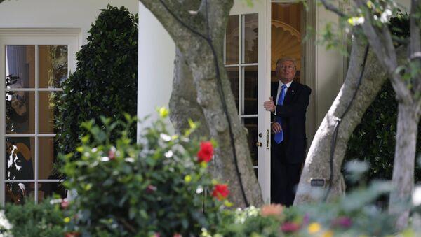 Predsednik SAD Donald Tramp u Beloj kući - Sputnik Srbija