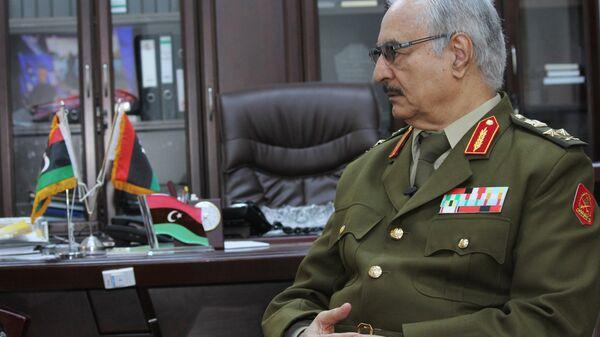 Либијски генерал Халифа Хафтар - Sputnik Србија